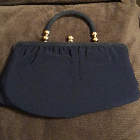 Ande Bags   Vintage Clutch Blue And Gold   Poshmark e68e921f5d